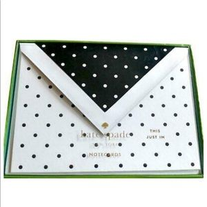 🆕 Kate Spade ♠️ This Just In Deco Dots Note Cards